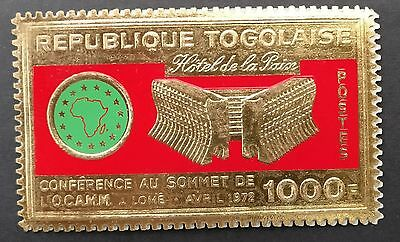 Togo - Gold stamp - Commemorating the OCAM Summit in Lomé