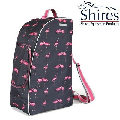 Shires Boot, Hat and Whip Bag - Flamingo Print [6506]