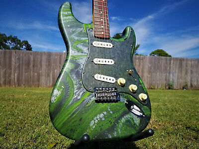 UNIQUE ART Vintage Modified Squier by Fender Stratocaster Hand Painted Guitar