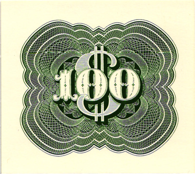 An Extremely Attractive $100 American Bank Note Co. Intaglio Engraving - NEW