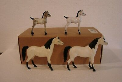 Hartland not Breyer Model Horses - lot of 4 small models, white w/ black points