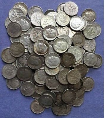FULL DATES 3 Rolls of 50 ea $15 Face Value 90% Silver Roosevelt Dimes