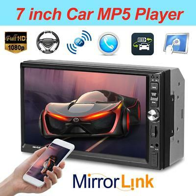 "7"" 2DIN Touch Screen Car MP5 Player Bluetooth Stereo FM Radio USB AUX In-Dash"