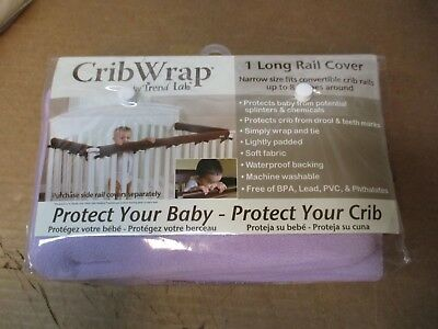 Tren Lab Cribwrap 1 Long Rail Cover Lavender Color Protect Your Crib New