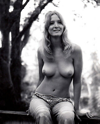 "BLONDES LANGHAARIGES TOPLESS MODELL ""WENDY WINDERS"" * Vintage 70s Pro Photo ""L"""