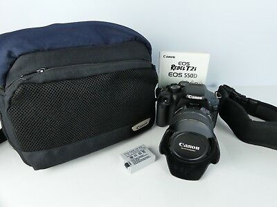 Canon Eos 550D Digital Slr Camera + 17-85Mm Zoom Lens Low Shutter Count + Extras