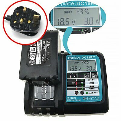 Battery Charger for MAKITA DC18RC BL1830 BL1815 BL1840 BL1850 BL1415 14 18V