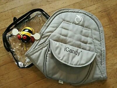 Icandy Peach Silver Mint Seat Liner Main Grey