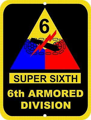 7a4d0279f17 UNITED STATES Army 6th Armored Division Super Sixth Aluminum 9