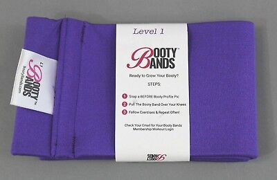 Booty Bands Level 1 Resistance Workout Band Purple TW4 One Size NWT