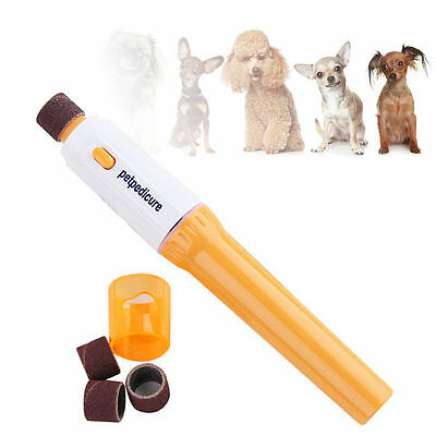 Electric Pet Dog Cat Puppy Claw Toe Nail pedicure Grinder Clipper Trimmer Tool