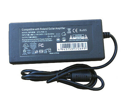 AC Adapter - Power Supply for Roland CUBE Street EX Battery-Powered Stereo Amp …