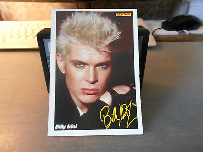 Billy Idol ++ Pop / Rocky-Starkarte ++ Autogrammkarte ++ TOP ++