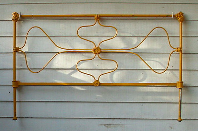Wrought Iron Farmhouse Bed Antique Old Victorian Floral Design FREE CA PICK UP