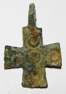 Zurqieh - As8582- Ancient Holy Land. Byzantine Bronze Cross. 600 - 800 A.d