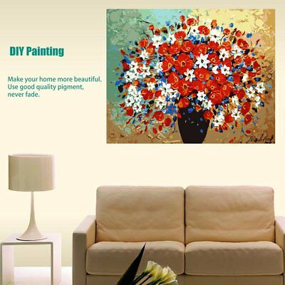 Flowers Pattern Oil Painting Coloring By Numbers Drawing On Canvas Art Dec ES