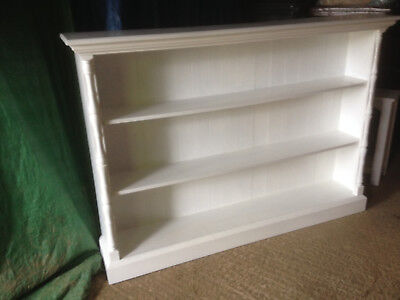 Vintage Old pine  Large  bookcase / shelves painted