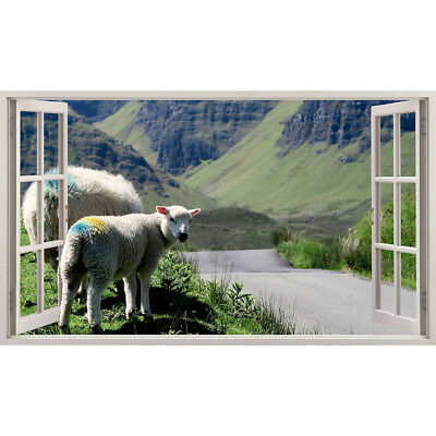 Wall Stickers Sheep Baby Scenic Mountains Bedroom Girls Boys Small Kids D188