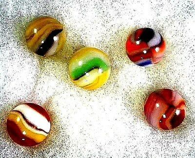 Vintage Complete Set Of Rare Anemic Peltier Marbles Mint Condition,