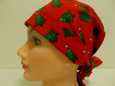 Pixie Hat/ Scrub Surgical/ Medical/ Chemo Caps /christmas