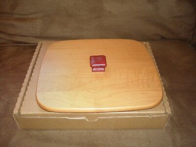 Longaberger 2000 Deck the Halls Basket WoodCrafts Lid - Red Knob