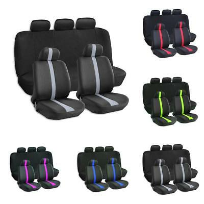 9pcs Universal Car Front Back Seat Cover Cushion For Sedan Truck SUV All Seasons