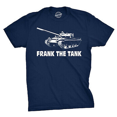 Frank The Tank T Shirt Army Funny Drinking Shirts Beer Joke Alcohol Humor (Blue)