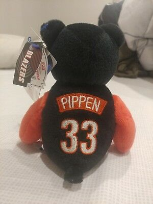 9fc2d30d60e Scottie Pippen 1999 Mattel Limited Treasures Beanie Bear Houston Rockets NWT