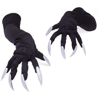 Halloween Costume Gloves with Nails Fingernails Gloves Claws A7P3