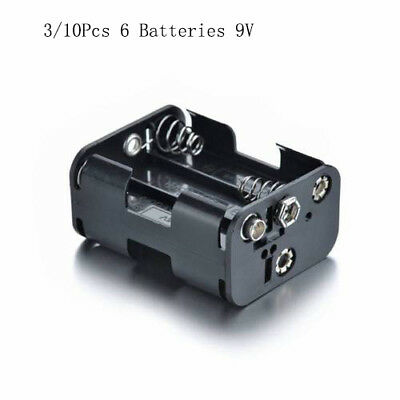 ATOPLEE 3/10Pcs Rechargeable 9V 6 Batteries Standard Connector 57*45*28mm