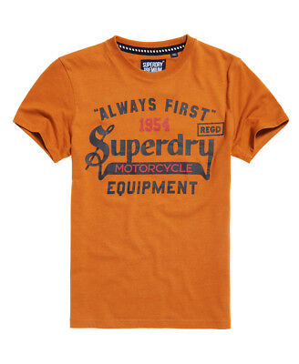New Mens Superdry Always First T-Shirt Jim Mustard Marl