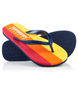 New Mens Superdry Sleek Flip Flops Richest Navy