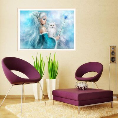 Beautiful Girl With Owl Pattern 5D DIY Diamond Painting Embroidery Needlewo ES