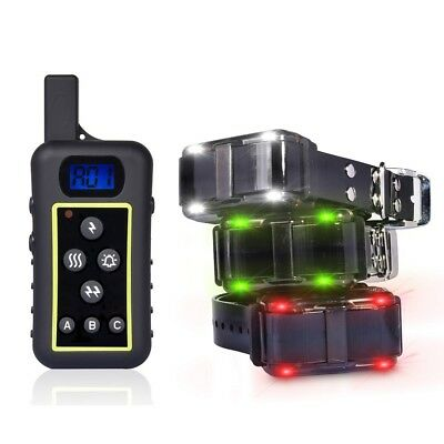 2000M Remote 3 Dog Shock Collar Hunting Pet Trainer  Waterproof Rechargeable