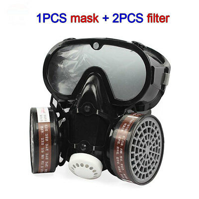 9600 Full Face Dust Gas Mask Respirator Spray Chemical Paint Smoke Protection