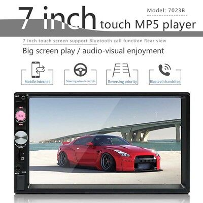 7'' Double 2DIN Bluetooth Touch Car Stereo Radio MP5 Player GPS USB/AUX/TF/FM