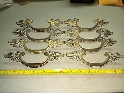 Vintage Ornate Fancy Wint. P. Drawer Pulls Lot of 8 Brass?