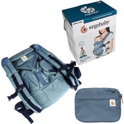 Ergo Baby OMNI 360 Cool Air Mesh Newborn Infant Toddler Baby Carrier Oxford Blue