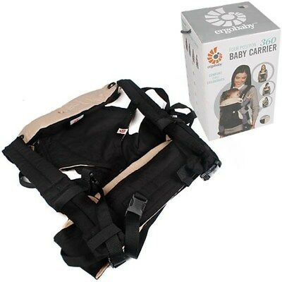New Ergo Baby Four Position 360 Newborn Infant Toddler Baby Cotton Carrier Black