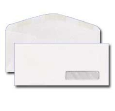 #10 Right Hand Window Envelope - 24# White (4 1/8 x 9 1/2) - Pack of 25