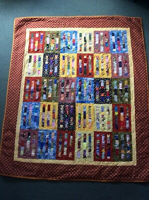 Handmade Patchwork Quilt 53x63inches