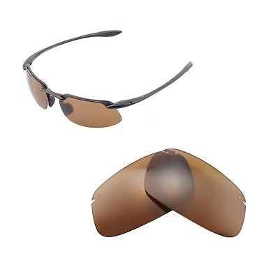Walleva Polarized Brown Replacement Lenses For Maui Jim Kanaha Sunglasses