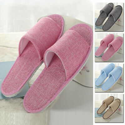 Open Toe Hook Unisex Adult Slippers Spa Hotel Guest Gift Mens Ladies Home Shoes