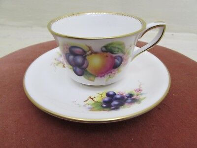 Royal Worcester Fruits Tea cup and Saucer Richard Seabright