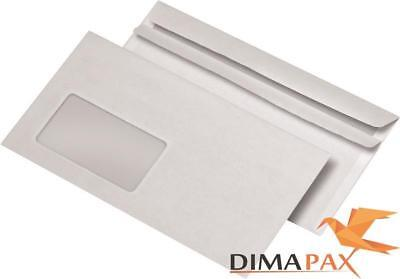 4000 Envelopes Din Long Self Adhesive with Window White