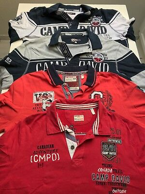 ±±± 4 x Camp David_langarm_Polo-Shirts_XL ±±±
