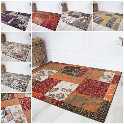 Modern Boho Patchwork Rugs Soft Small Large Collage Traditional Living Room Rug