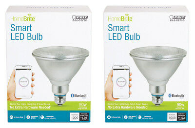 NEW FEIT Electric HomeBrite Smart LED Bulb PAR38 16 Watts Equals 90-Watts 2-Pack