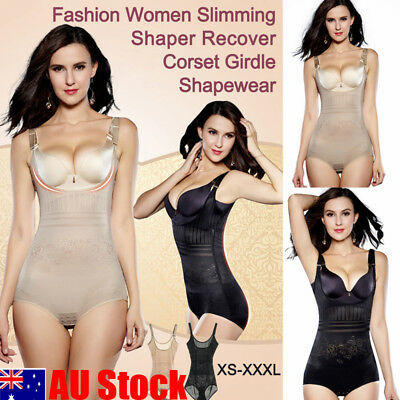 AU Women's Full Body Shaper Underbust Tummy Control Slimming BodySuit Shapewear