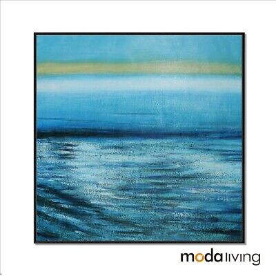 New Hand Painted Modern Abstract Oil Painting Canvas Wall Art Framed Sea